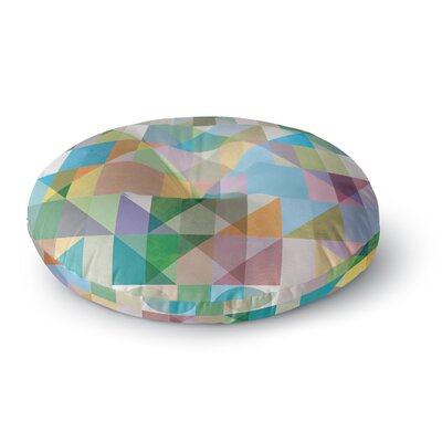 Mareike Boehmer Graphic 74 Rainbow Abstract Round Floor Pillow Size: 26 x 26