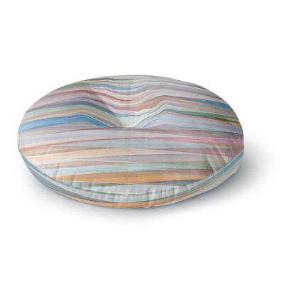Mareike Boehmer Nordic Combination II Rainbow Abstract Round Floor Pillow Size: 26 x 26