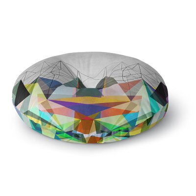 Mareike Boehmer Colorflash 3X Rainbow Round Floor Pillow Size: 23 x 23