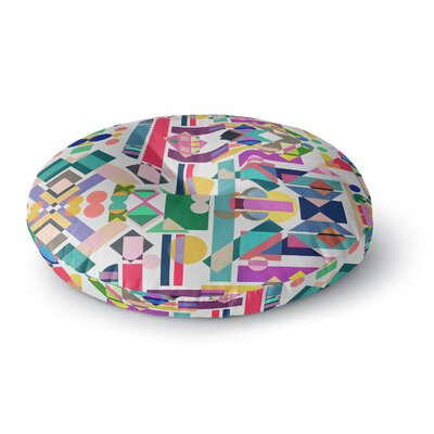 Mareike Boehmer Geometry 2B Abstract Rainbow Round Floor Pillow Size: 23 x 23