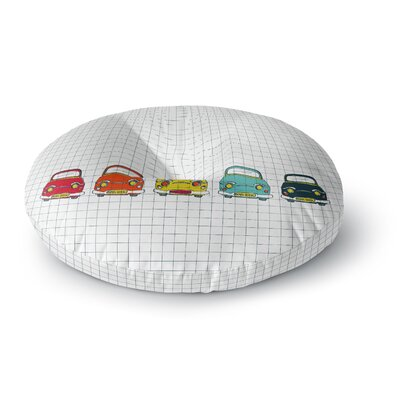 MaJoBV Boys Rock Cars Round Floor Pillow Size: 26 x 26