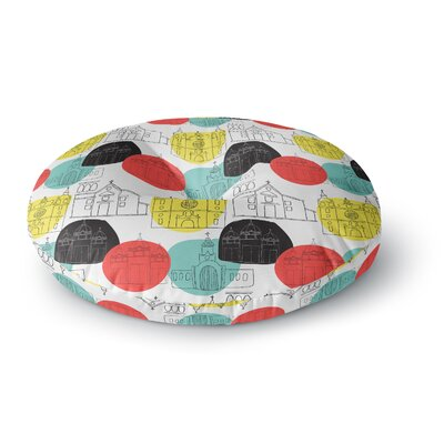 MaJoBV Cartagena Churches Polkadot Round Floor Pillow Size: 26 x 26