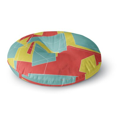 MaJoBV Cartagena Walls Geometric Round Floor Pillow Size: 26 x 26