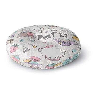 MaJoBV Tea Party Round Floor Pillow Size: 26 x 26