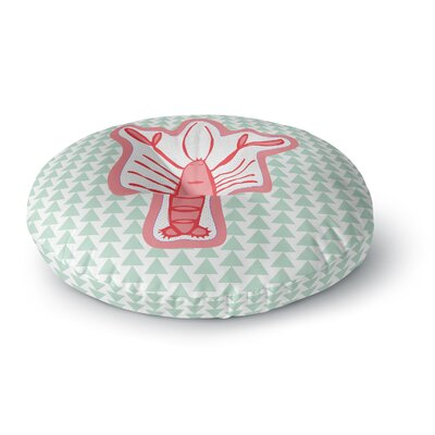 MaJoBV Langosta Lobster Round Floor Pillow Size: 23 x 23