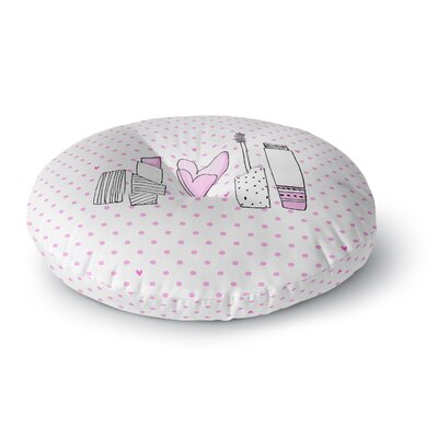 MaJoBV Girls Luv Makeup Round Floor Pillow Size: 26 x 26