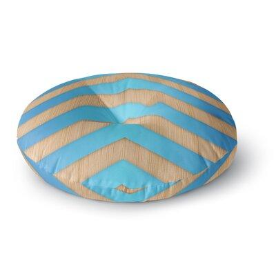 Marta Olga Klara Turquoise Chevron Round Floor Pillow Size: 23 x 23
