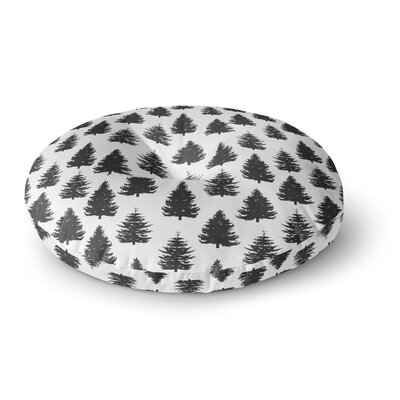 Marta Olga Klara 'Pine Forest' Nature Round Floor Pillow Size: 26