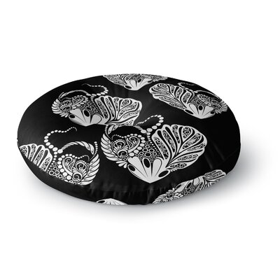 Maria Bazarova Heart Love Round Floor Pillow Size: 26 x 26