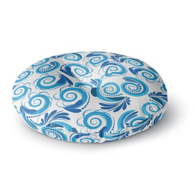 Maria Bazarova Waves Round Floor Pillow Size: 26 x 26