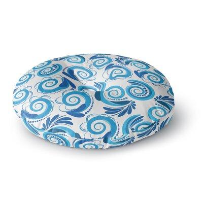 Maria Bazarova Waves Round Floor Pillow Size: 23 x 23