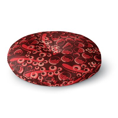 Maria Bazarova 'Berry' Round Floor Pillow Size: 26
