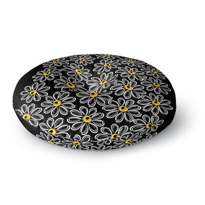 Maria Bazarova Chamomile Floral Round Floor Pillow Size: 26 x 26