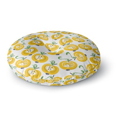 Maria Bazarova Apple Food Round Floor Pillow Size: 23 x 23