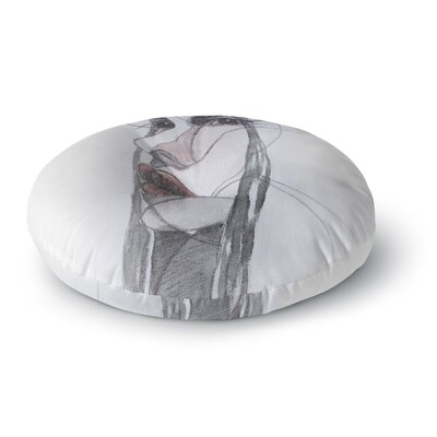 Maria Bazarova Young Girl Round Floor Pillow Size: 23 x 23