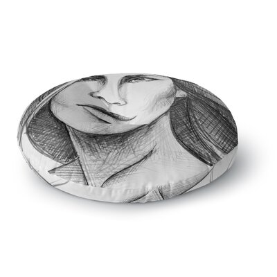Maria Bazarova Fashion Woman People Round Floor Pillow Size: 23 x 23