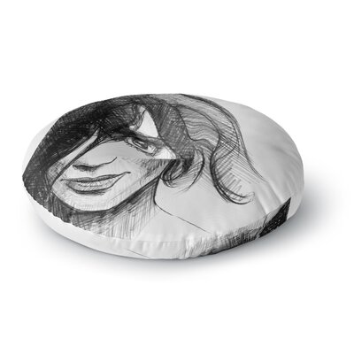 Maria Bazarova Self Portrait Round Floor Pillow Size: 26 x 26