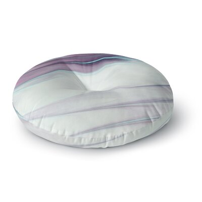 Mmartabc Paint Strokes Painting Round Floor Pillow Size: 26 x 26