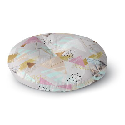 Mmartabc Abstract Triangles Texture Digital Round Floor Pillow Size: 26 x 26
