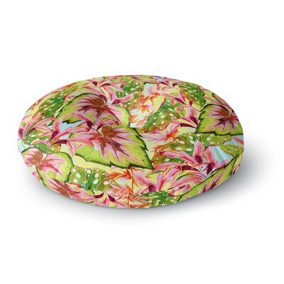 Mmartabc Exotic Botanical Pattern Illustration Round Floor Pillow Size: 23 x 23