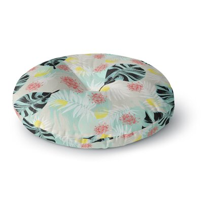Mmartabc Tropical Plants Illustration Round Floor Pillow Size: 26 x 26