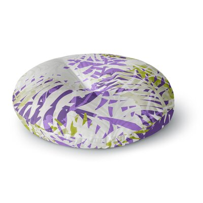 Mmartabc Leaves Vector Round Floor Pillow Size: 23 x 23