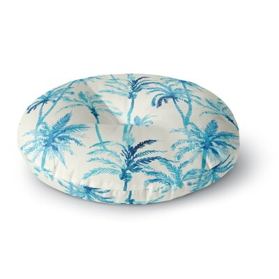 Mmartabc Tropical Watercolor Palm Trees Illustration Round Floor Pillow Size: 23 x 23