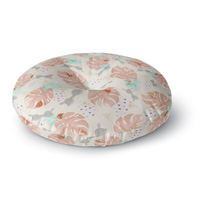 Mmartabc Pattern Tropical Beach Illustration Round Floor Pillow Size: 26 x 26