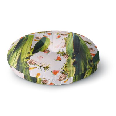 Mmartabc Cactus Among Tropical Pattern Photography Round Floor Pillow Size: 23 x 23