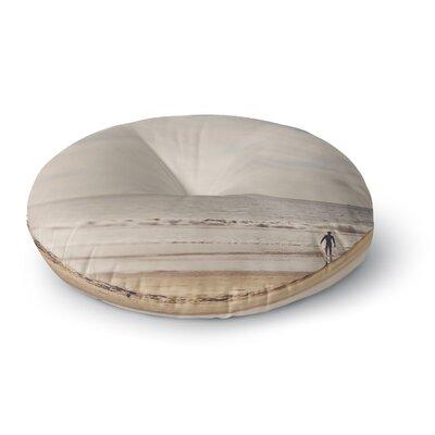 Myan Soffia Ritual Beach Sand Round Floor Pillow Size: 26 x 26