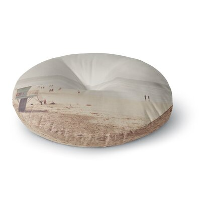 Myan Soffia Beach Day Beach Ocean Round Floor Pillow Size: 23 x 23