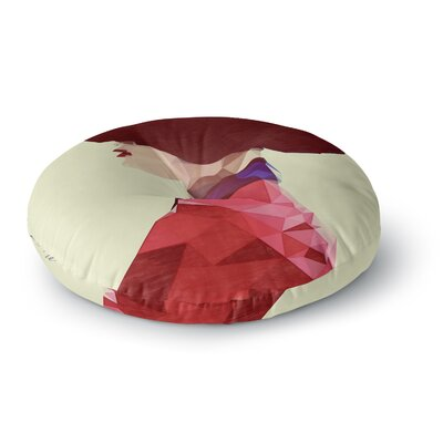 Mayka ienoVa Chic Hat Illustration Round Floor Pillow Size: 26 x 26
