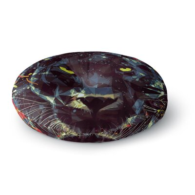 Mayka Ienova Le Noir Parduc Animals Round Floor Pillow Size: 26 x 26