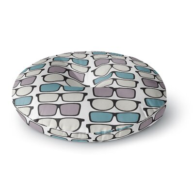 Michelle Drew Spectacles Geek Chic Round Floor Pillow Size: 26 x 26