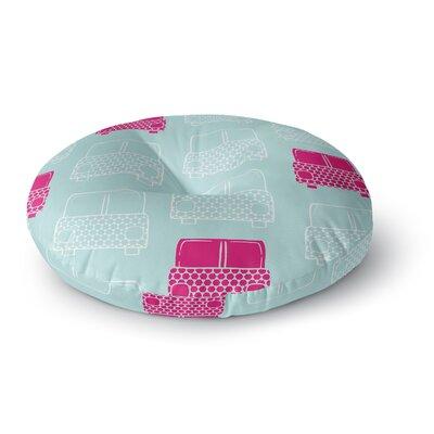 Michelle Drew Beep Beep Round Floor Pillow Size: 26 x 26