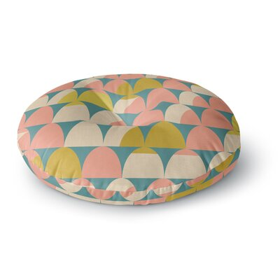 Michelle Drew Scallops Round Floor Pillow Size: 26 x 26