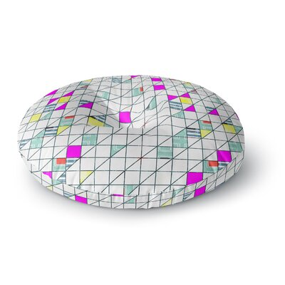 Michelle Drew Squares Abstract Geometry Round Floor Pillow Size: 23 x 23