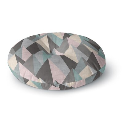 Michelle Drew Mountain Peaks III Geometric Round Floor Pillow Size: 26 x 26
