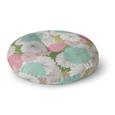 Michelle Drew Parasol Flowers Abstract Round Floor Pillow Size: 26 x 26