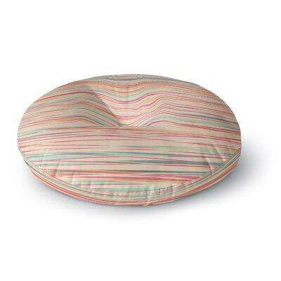 Michelle Drew Stripy Wood Bark Stripes Round Floor Pillow Size: 26 x 26