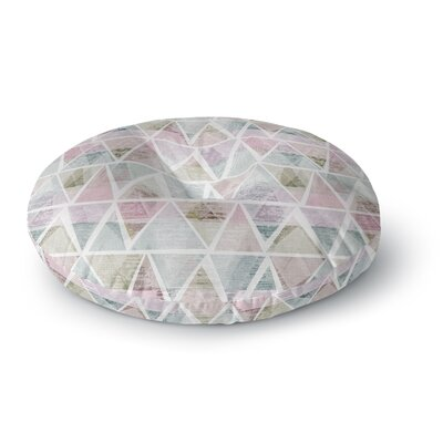 Michelle Drew Triangle Mountains Round Floor Pillow Size: 26 x 26