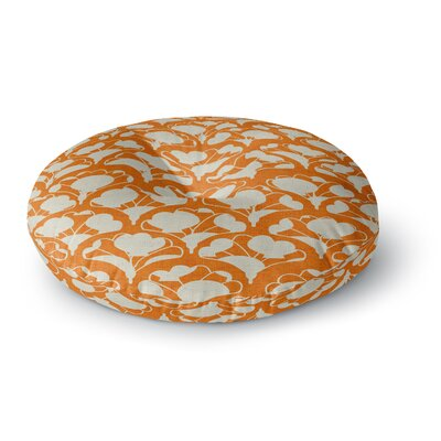 Michelle Drew Art Deco in Orange Round Floor Pillow Size: 23 x 23