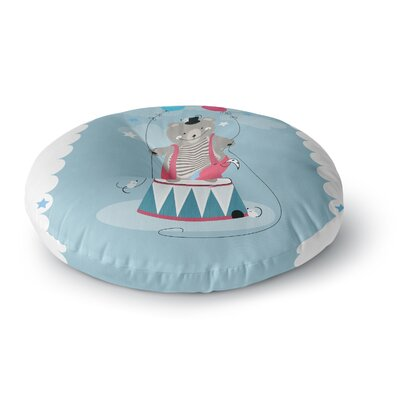 Michelle Drew Circus Bear Round Floor Pillow Size: 23 x 23