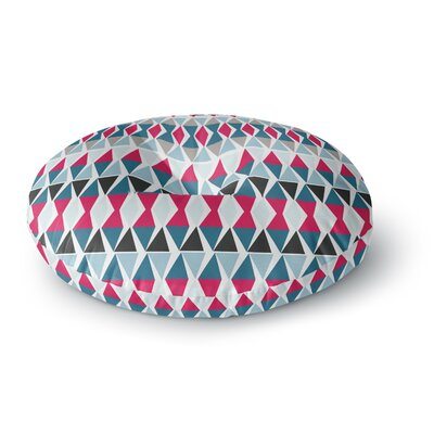 Michelle Drew Triangle Circus Drums Round Floor Pillow Size: 23 x 23