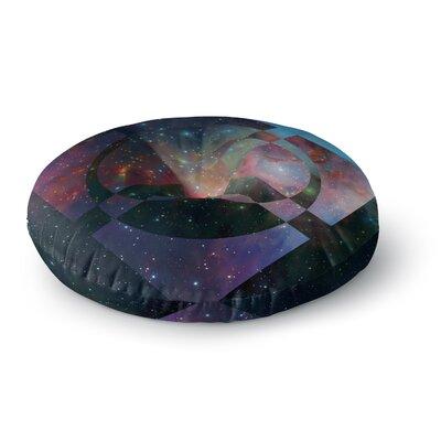 Matt Eklund Galactic Radiance Round Floor Pillow Size: 26 x 26