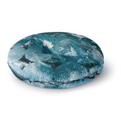 Matt Eklund Crashing Geometric Round Floor Pillow Size: 23 x 23