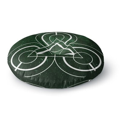 Matt Eklund Emerald City Geometric Digital Round Floor Pillow Size: 23 x 23