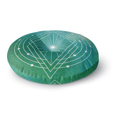 Matt Eklund Atlantis Geometric Round Floor Pillow Size: 26 x 26