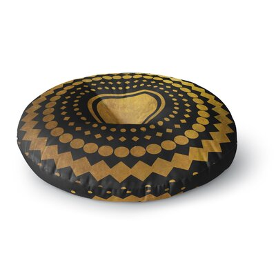 Matt Eklund Gilded Confetti Geometric Round Floor Pillow Size: 26 x 26
