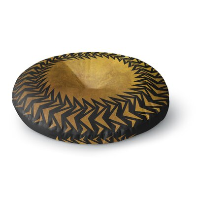 Matt Eklund Gilded Chaos Geometric Round Floor Pillow Size: 26 x 26